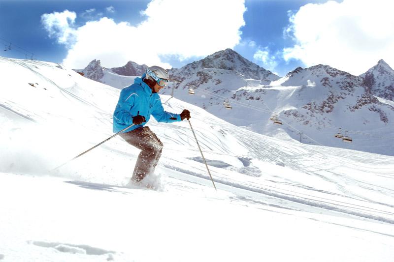 Skifahren auf dem Stubaigletscher