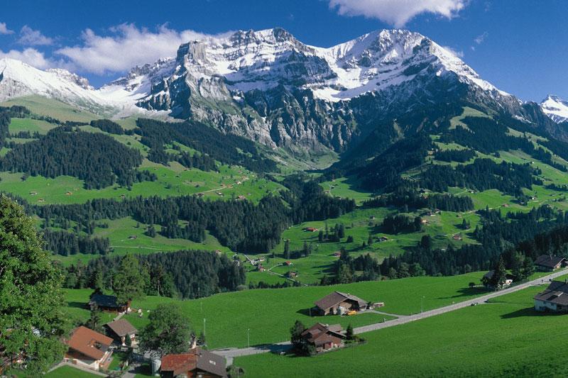 Panorama von Adelboden
