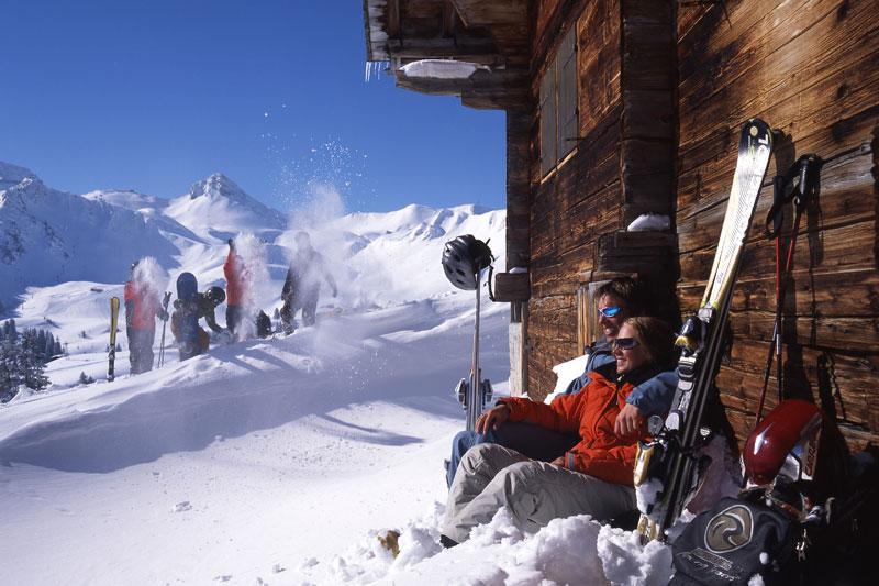 Entspannung auf der Skihuette