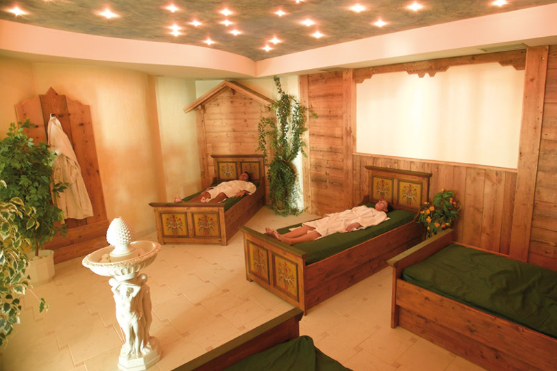 Ruheraum mit Wasserbetten