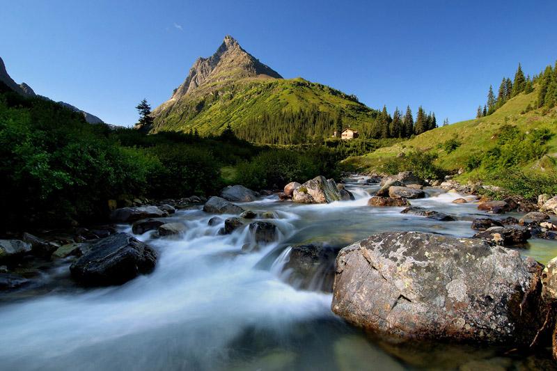 Sommerlandschaft in St. Anton am Arlberg