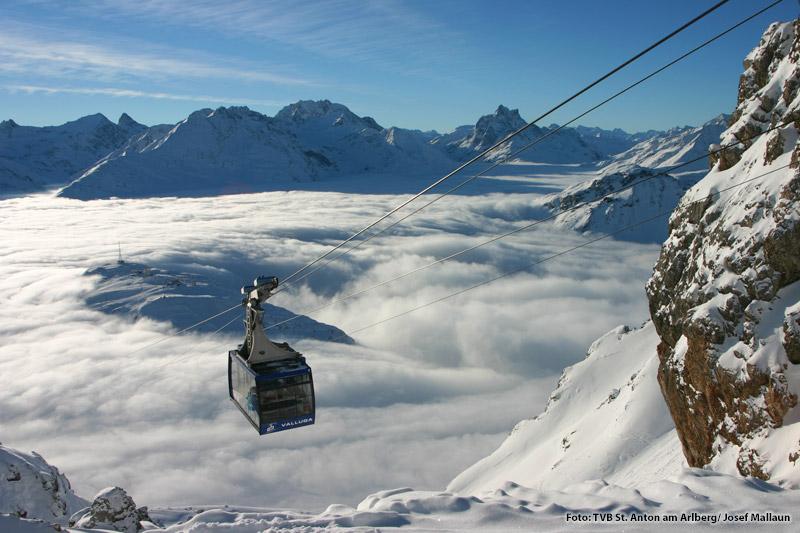 Vallugabahn im Winter Winter