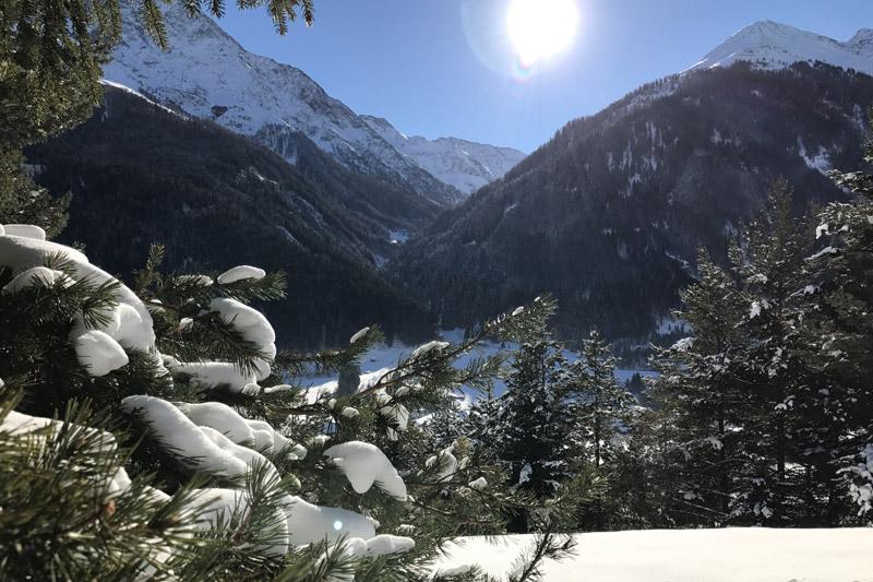 Pettneu am Arlberg im Winter