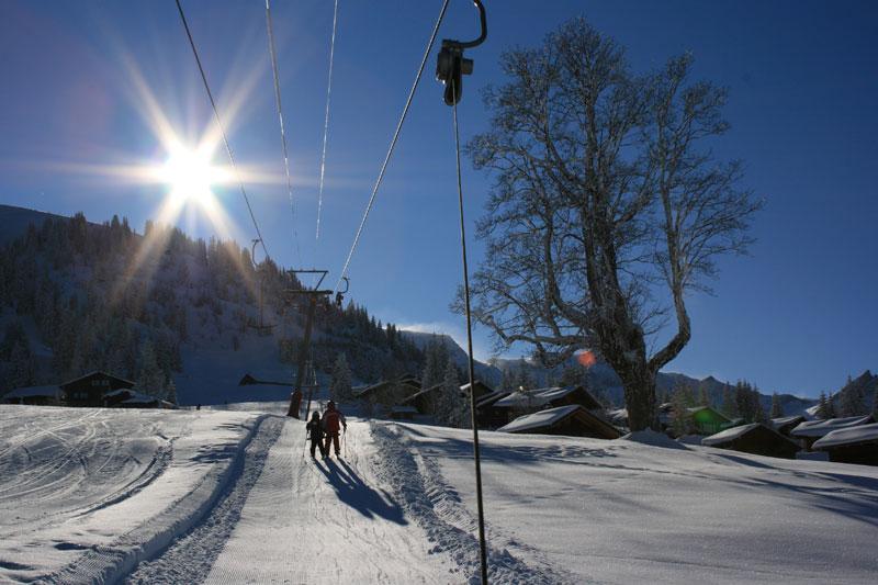 Skifahren um Brienz