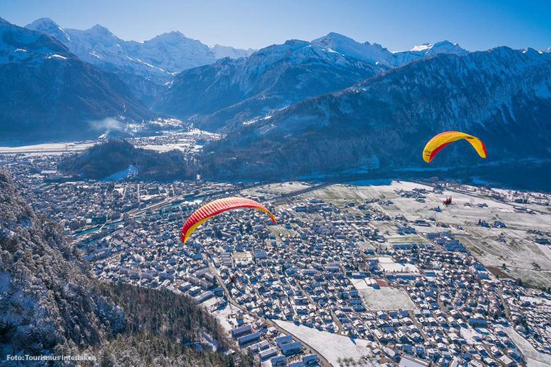 Action im Winter in Brienz