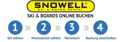 Skiverleih, Skimiete bei SNOWELL online buchen