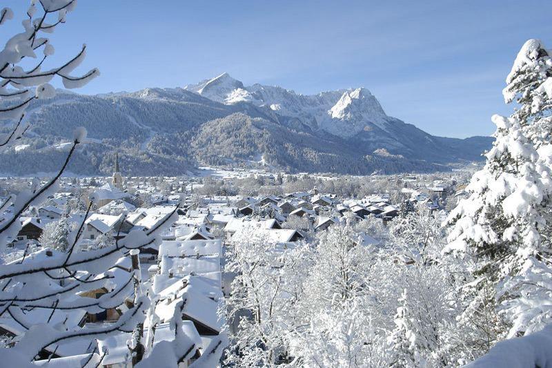 Winterpanorama von Garmisch-Partenkirchen