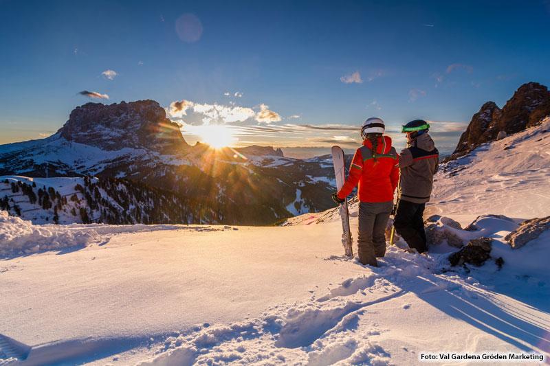 Panoramaaussicht im Skiurlaub