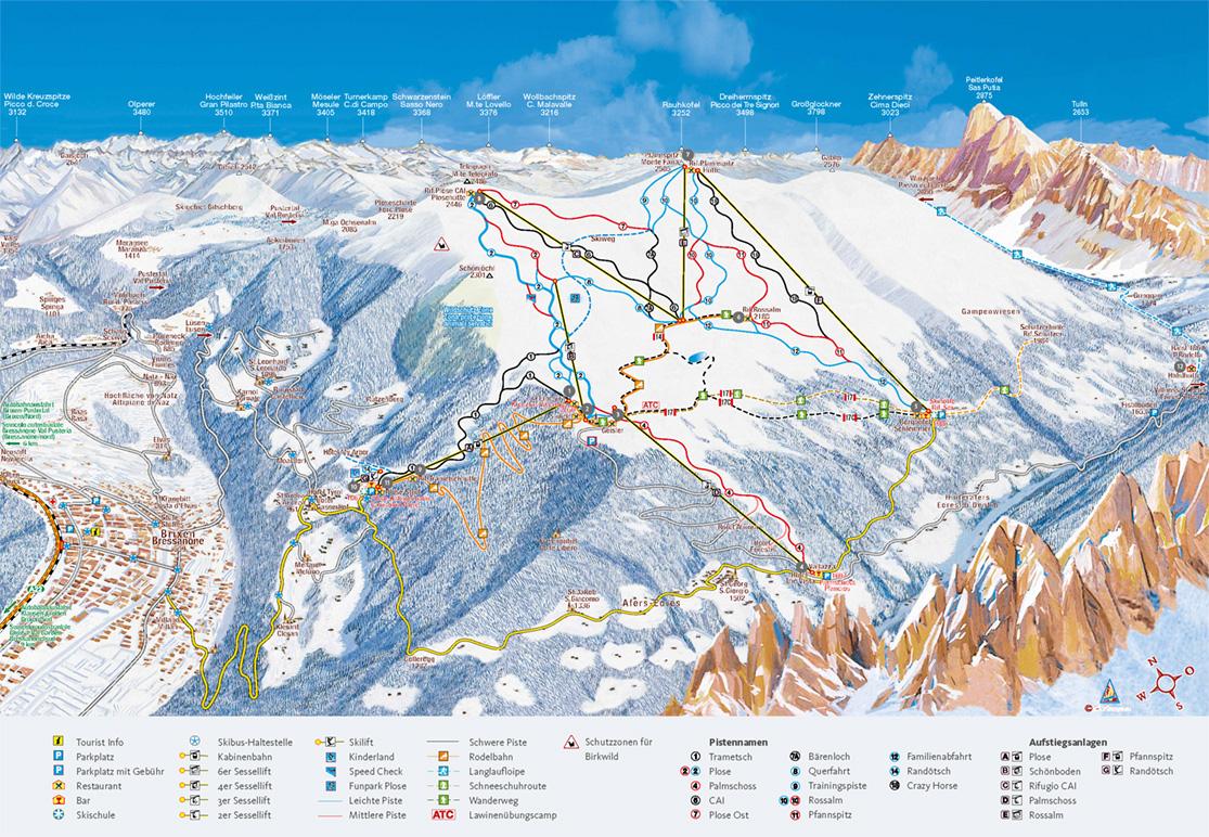 Pistenplan Skigebiet Plose