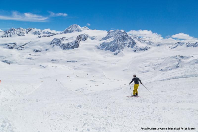 Skipiste am Schnalstaler Gletscher