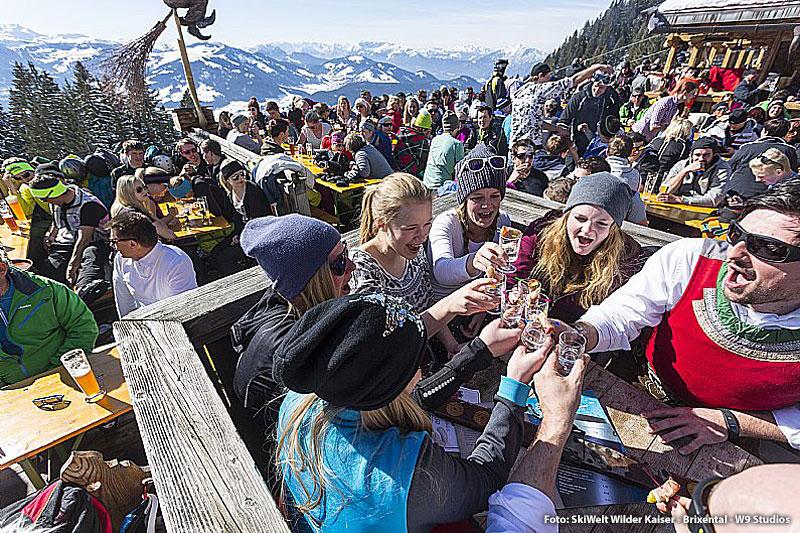 Skihuettengaudi in der SkiWelt Wilder Kaiser - Brixental