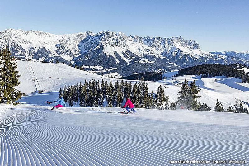 Skifahrt mit bester Aussicht