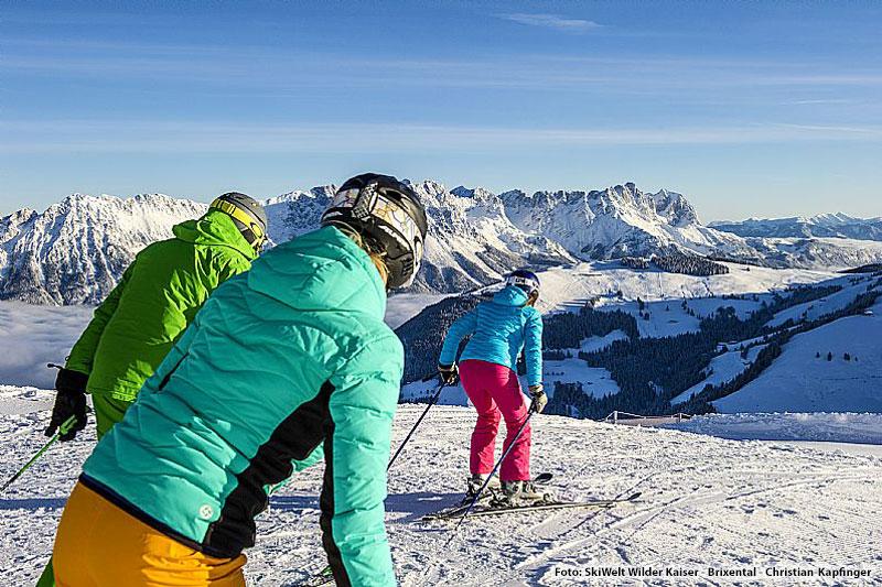 Skifahren mit einzigartigem Panorama in der SkiWelt Wilder Kaiser - Brixental