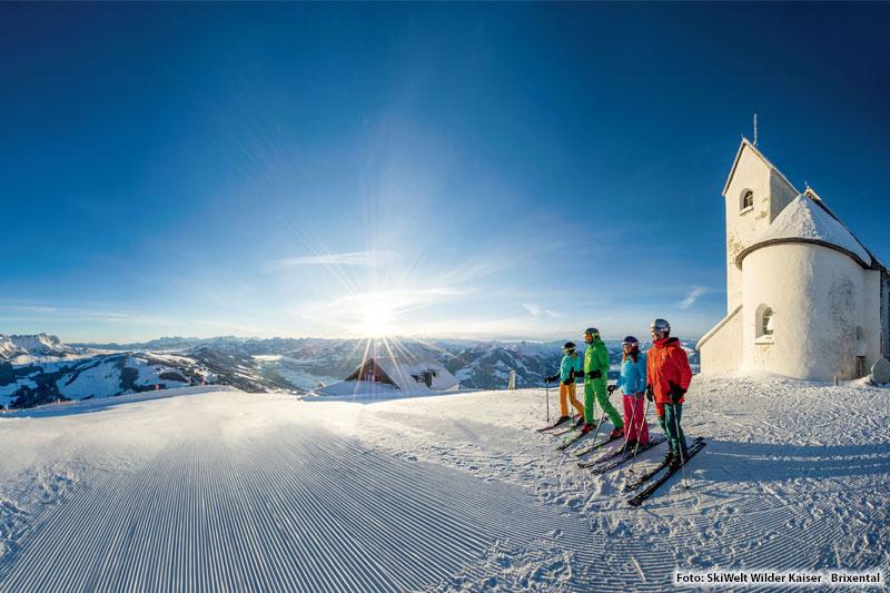 Skifahren mit Panorama in deinem Alpenurlaub