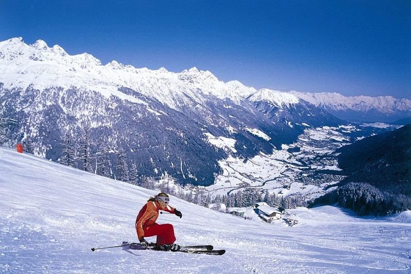 Skifahren an den Elferliften