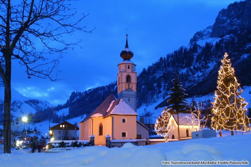 Colfosco zur Adventszeit