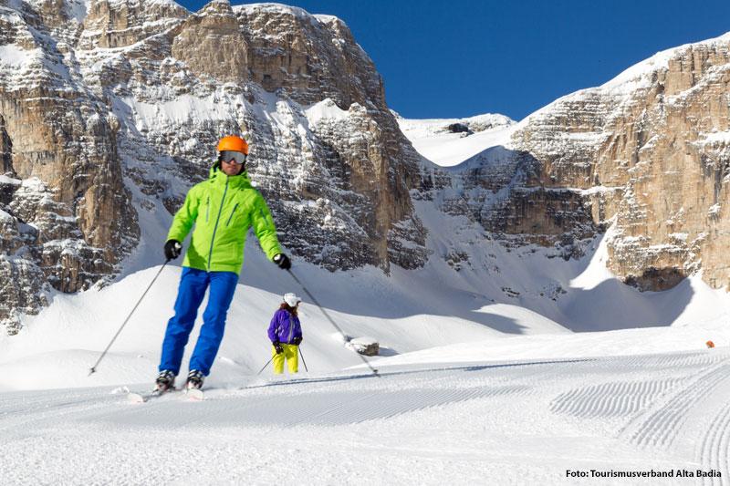 Beste Pistenverhältnisse im Skigebiet Alta Badia