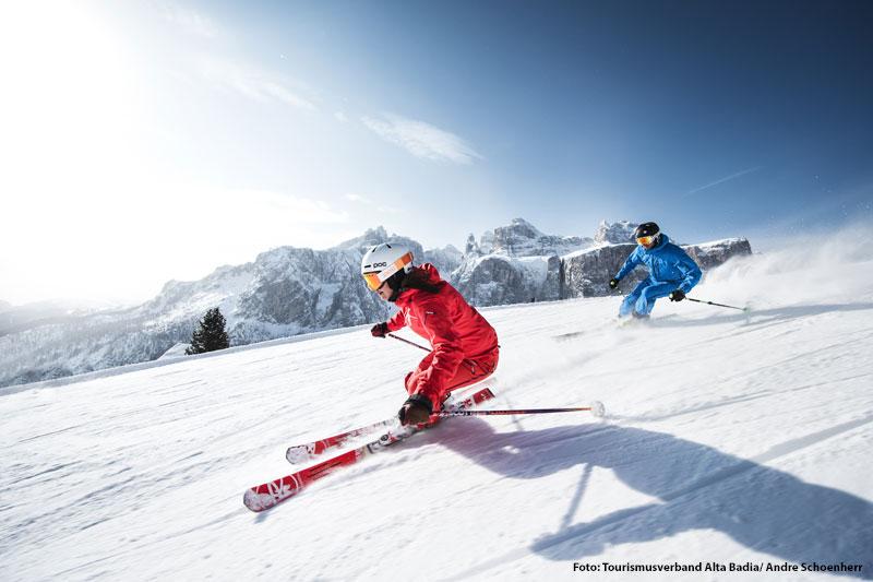 Skifahren in Sella