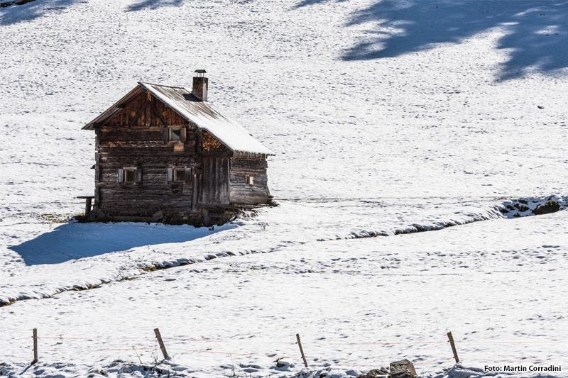 Winteridylle im Schnalstal