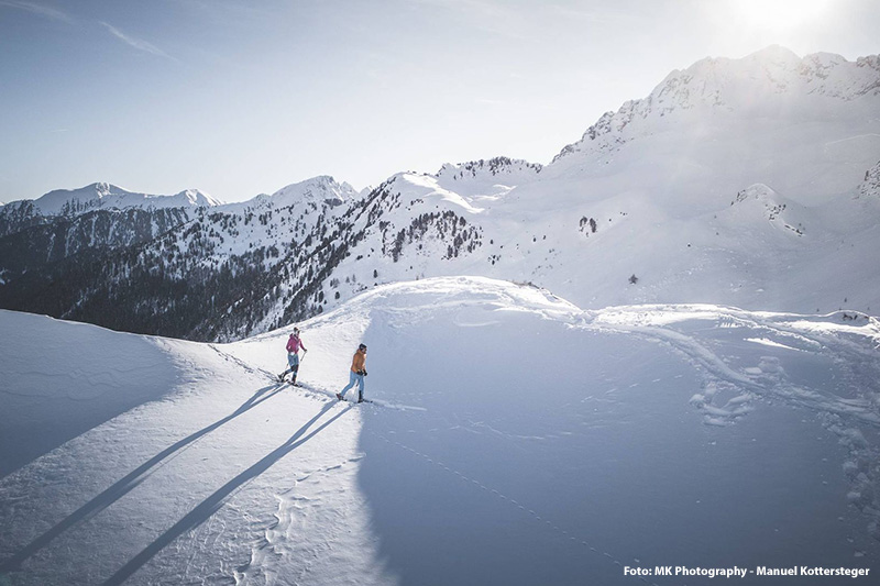 Winterwandern im Ridnaun – ein Sport für alle Genießer