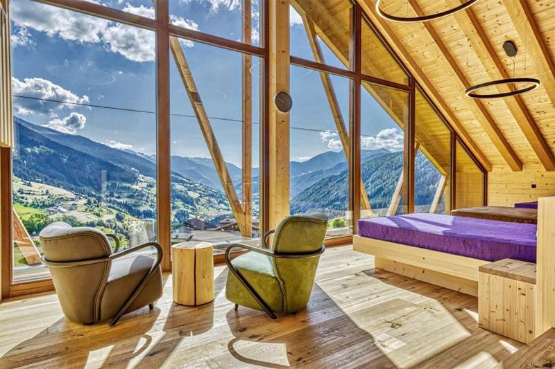 Wellnessurlaub mit Bergblick auf das Ridnauntal