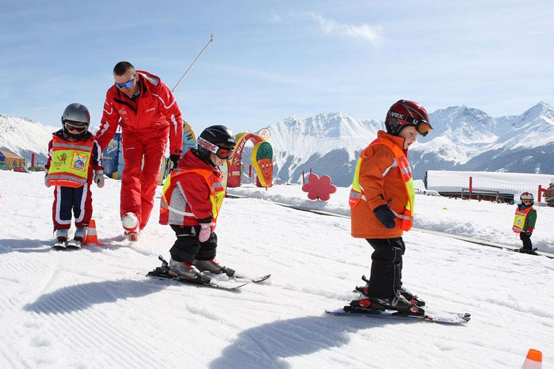 Skikindergarten für die Kleinsten