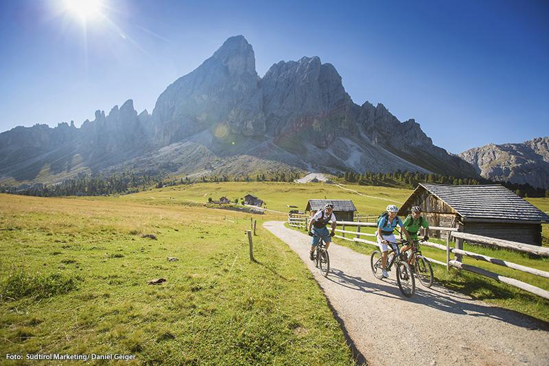 Urlauber die Ihren Mountainbikeurlaub in Südtirol verbringen, lieben die große Vielfalt an Touren und Trails im Ridnaun