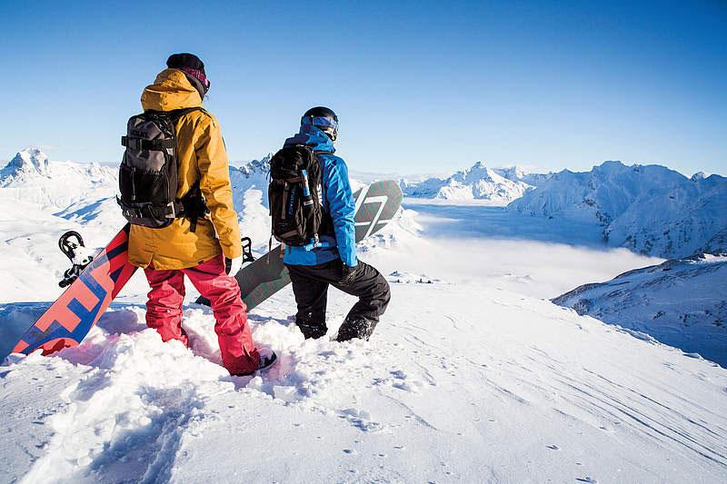Snowboarden im Winterurlaub