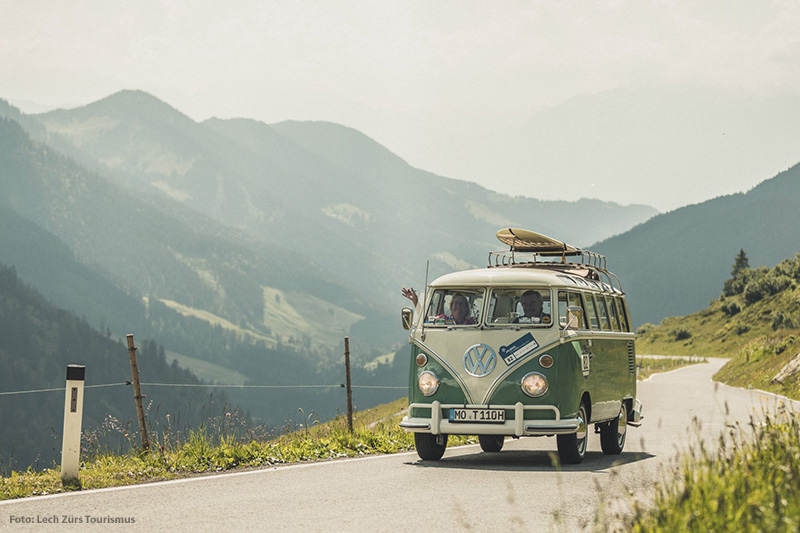 Im Oldtimer über den Arlberg