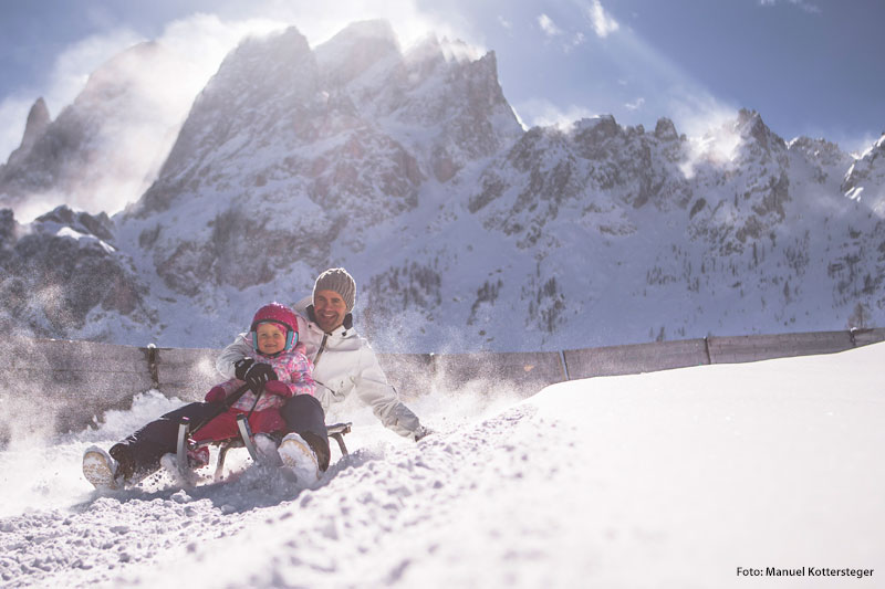 Rodeln im Skigebiet Drei Zinnen