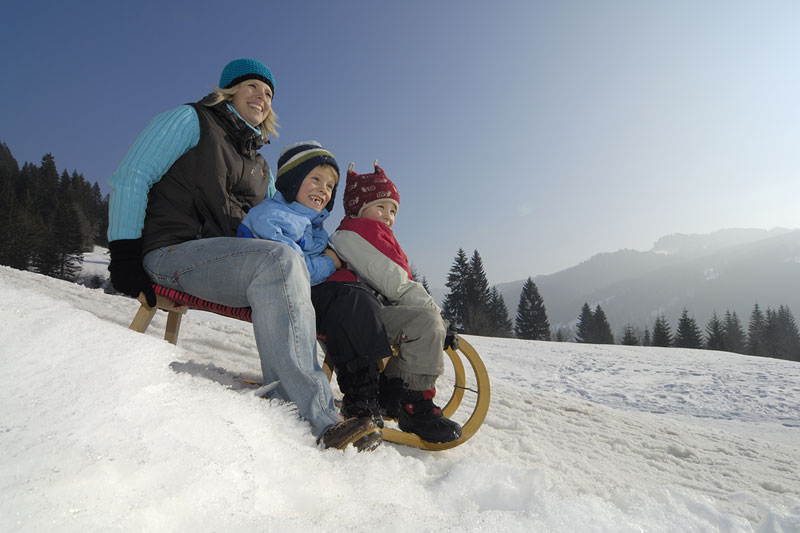 Familienwinterurlaub im Allgäu