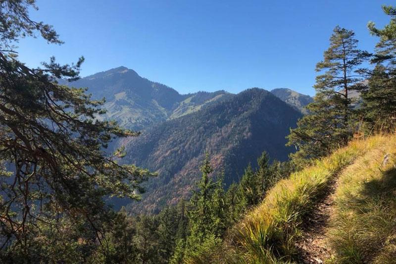 Panoramaaussicht beim Wandern