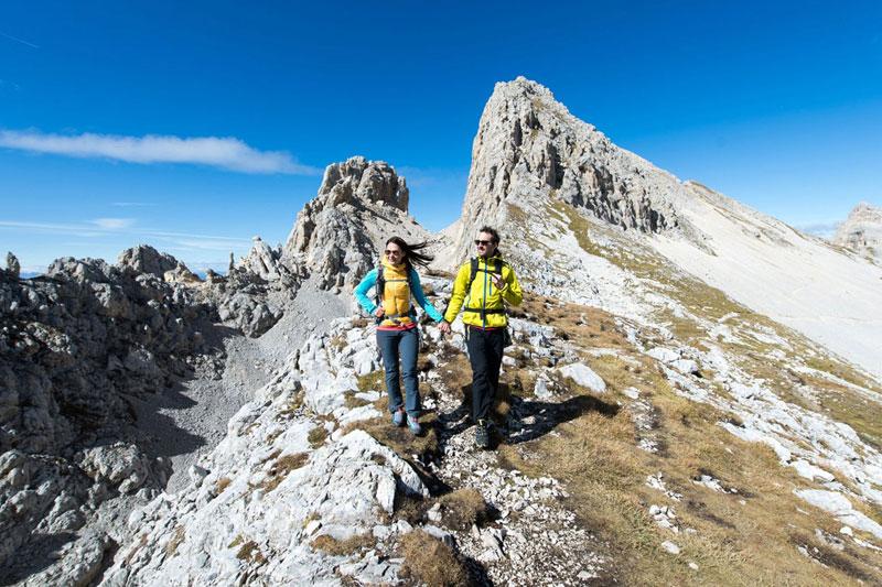 Bergsteigen in den Dolomiten