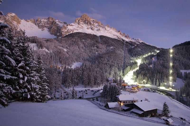 Nachtskifahren in Obereggen