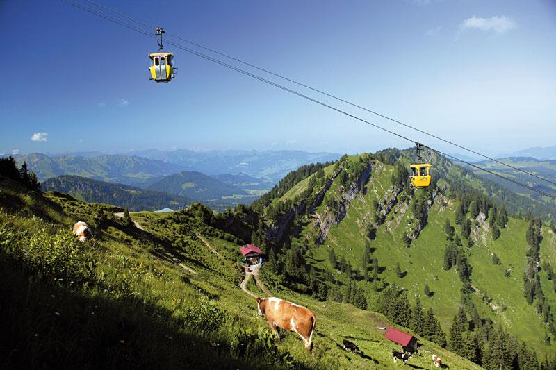 Bergpanorama mit der Hochgratbahn