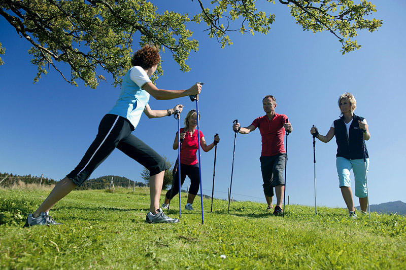 Nordic Walking bei Deinem Sommerurlaub im Allgäu