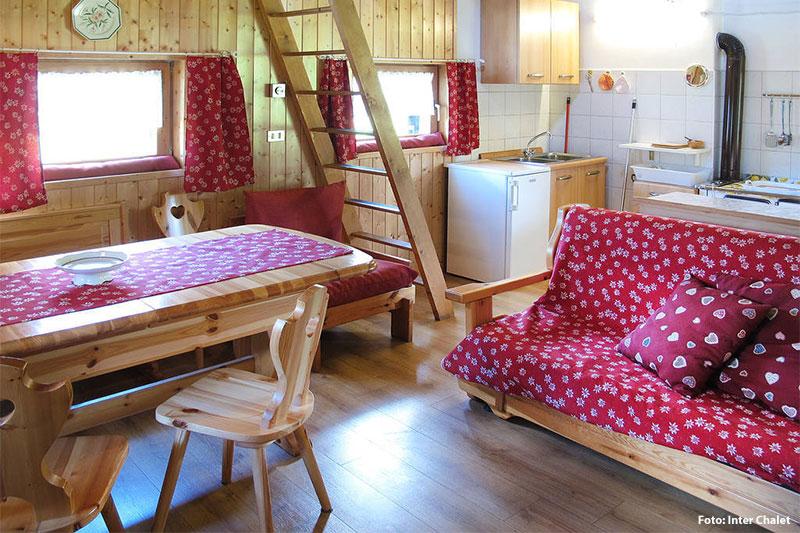 Beispiel Wohnraum im Chalet