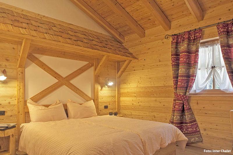 Schlafzimmer Ferienhaus in den Dolomiten