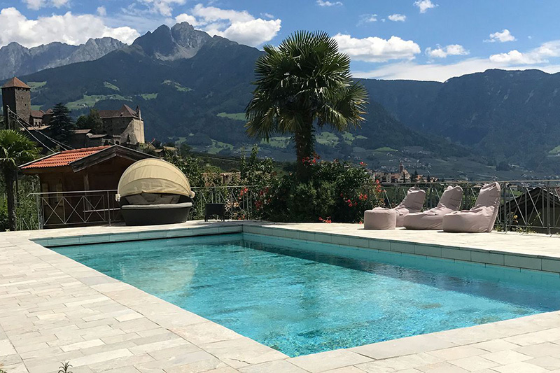 Pool mit Panoramaaussicht