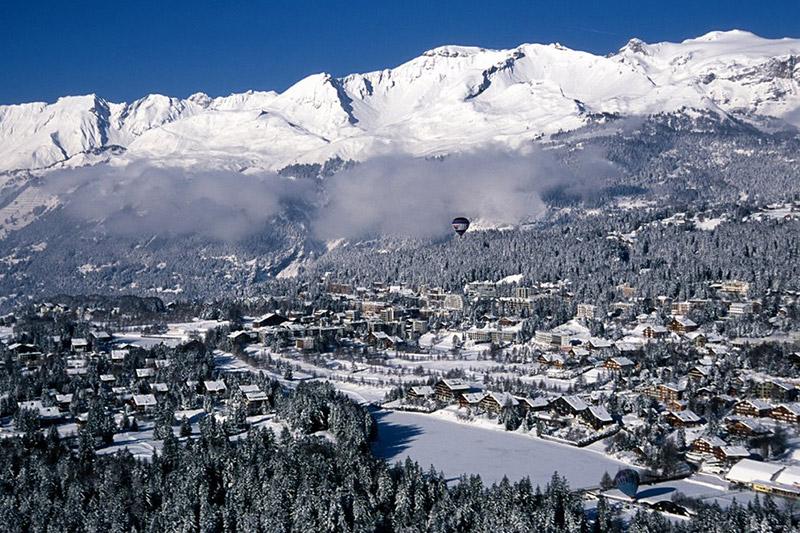 Winterpanorama Adelboden