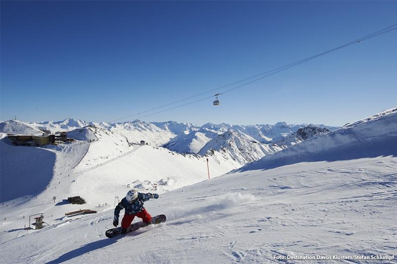 Snowboarden in Davos-Klosters