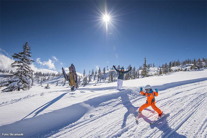Indianerpfad im Skigebiet Fageralm