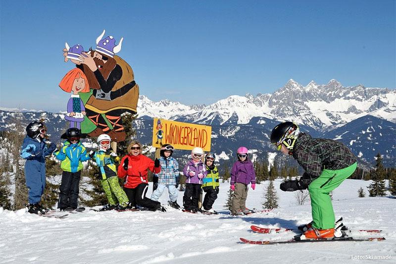 3 liebevoll gestaltete Kinderskirouten im Skigebiet Fageralm