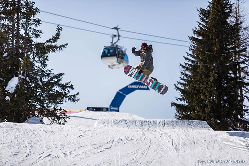 Snowboarden in Zauchensee