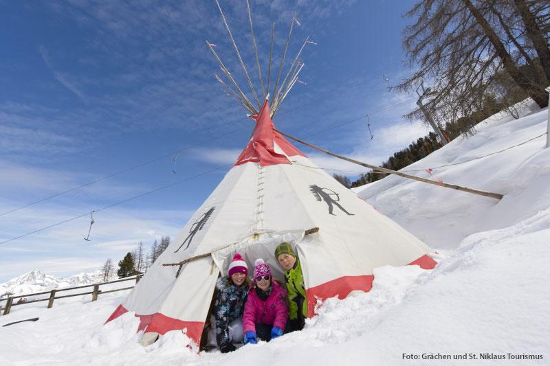 Skiurlaub im Walliser Familienparadies Grächen