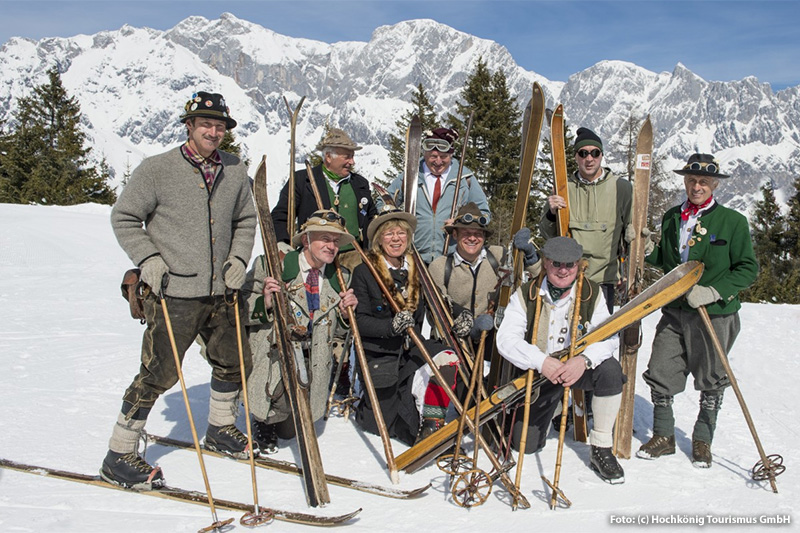 Traditionelle Skihuettenroas am Hochkönig