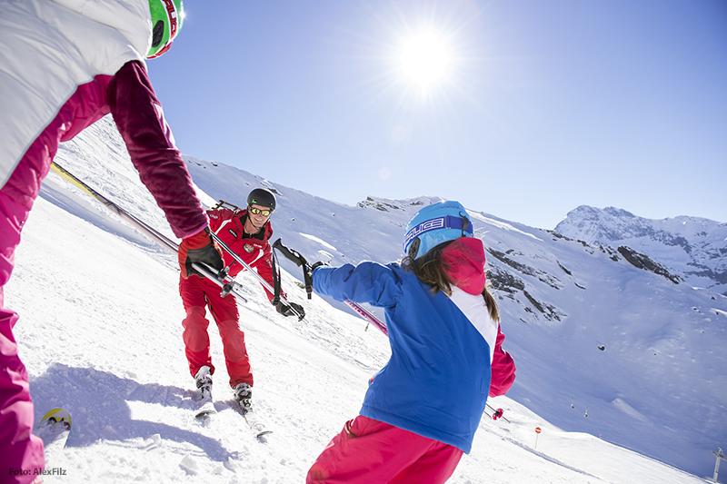 Skifahren im Skigebiet Pfelders