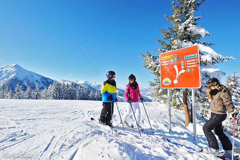 Skifahren auf der Kemahdhöhe (1.571 m)