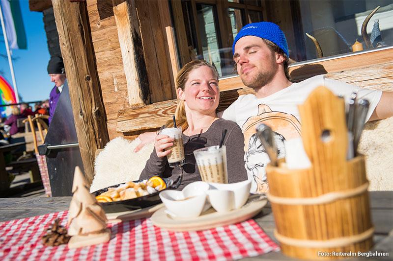 Après Ski in Skihütten auf der Reiteralm