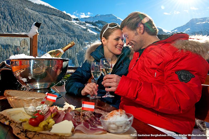 In den Gasteiner Skigebieten genießt Du regionale Schmankerl